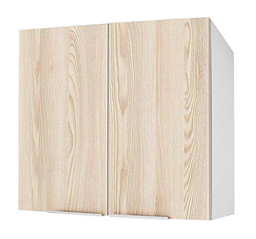 Berlioz créations Alto DE Cocina 2 Puertas 80, aglomerado, Fresno Arenado, 80 x 34 x 70 cm