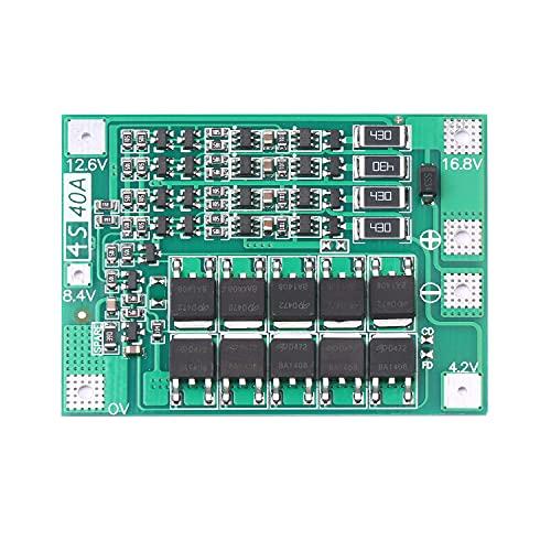 Fesjoy Placa de protección de batería de Litio de Iones de Litio Serie 4 14,8 V 16,8 V 40A Placa de protección de celda de PCB de polímero de Litio con edición Balance/Enhance