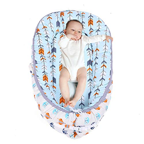 Baby Nest Bed,Arrow Blue Baby Lounger for Infant Boys Sharing Co Sleeping Baby Bassinet,Premium Quality and Bigger Size (0-24 Months) -Breathable & Hypoallergenic Portable Crib