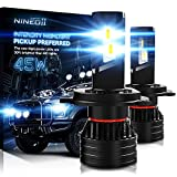 NINEO H4 LED Bulbs, 90W,Halogen Replacement,9003 Extremely Bright Conversion Kit G-XP x3 Chips 6500K Cold White,Fog Light