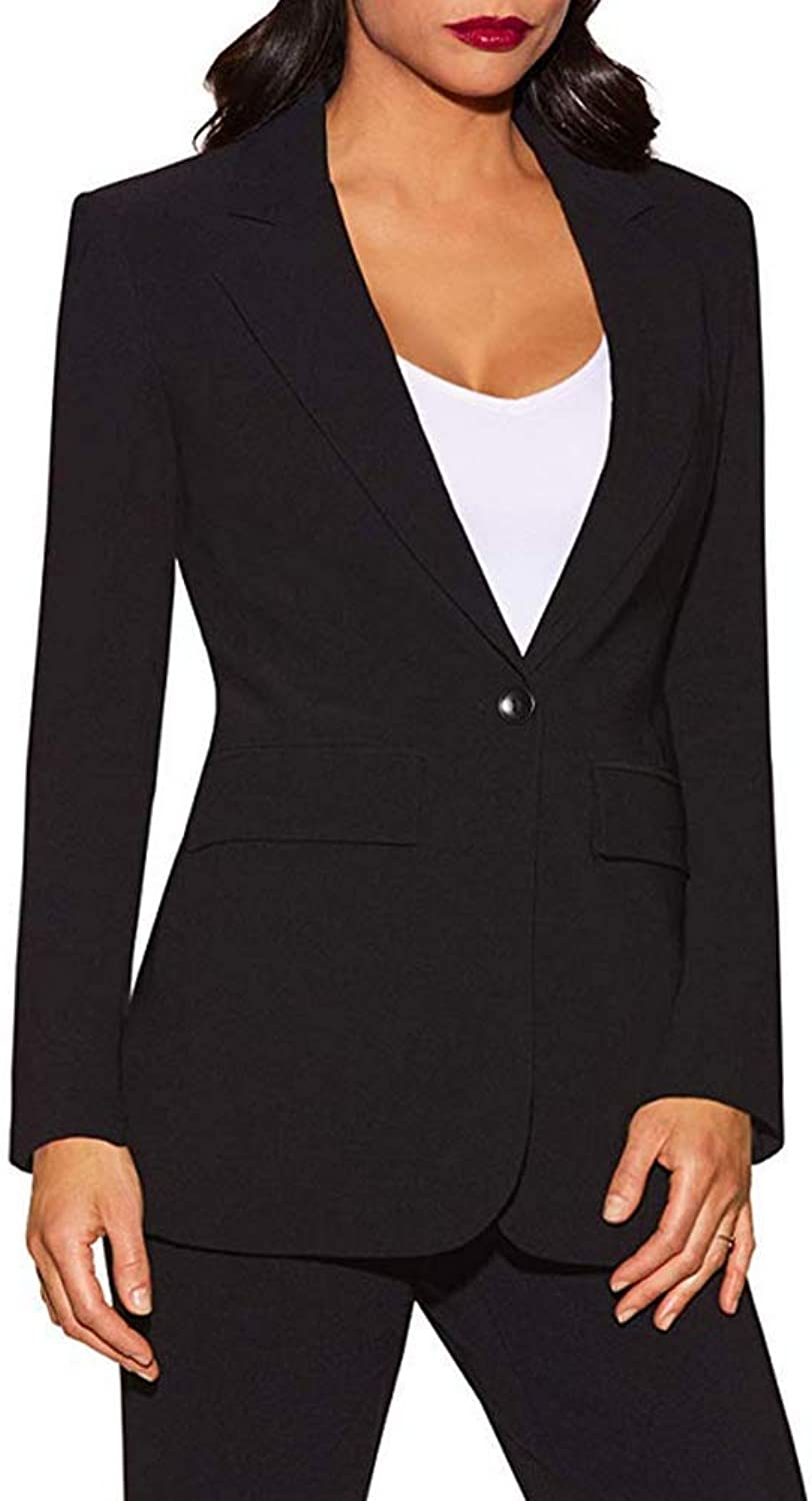 TOPG Women Business Suits 2 Piece Jacket and Pant Sets Office Ladies Work Suit