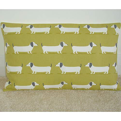 Ockerfarbener Kissenbezug für Nackenrolle, 30,5 x 50,8 cm, Ocker