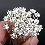SJSA imixlot Wedding Hair Pins Simulated Pearl Flower Bridal Hairpins Bridesmaid Hair Clips Women Hair Jewelry Accessories 40 PCS