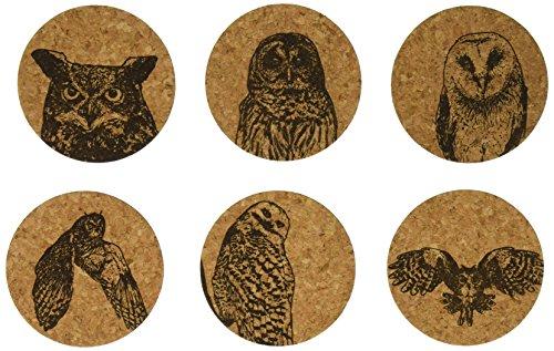 Corkology Owls Coaster Set