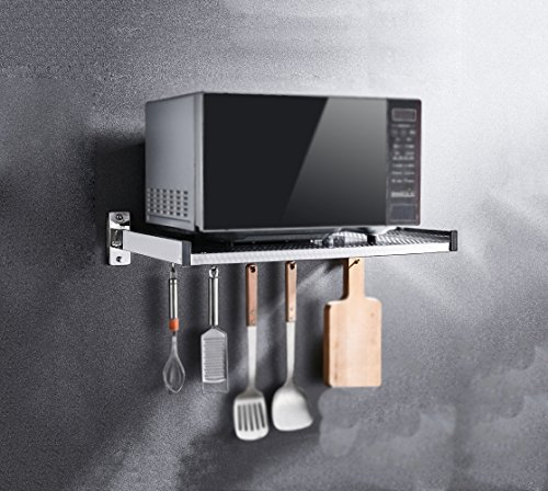 304 Edelstahl-Mikrowellenherd-Regal, Wand-Einfassungs-Küchen-Regal, mikrowelle regal (Art: A; Größe: 510x396x110mm)