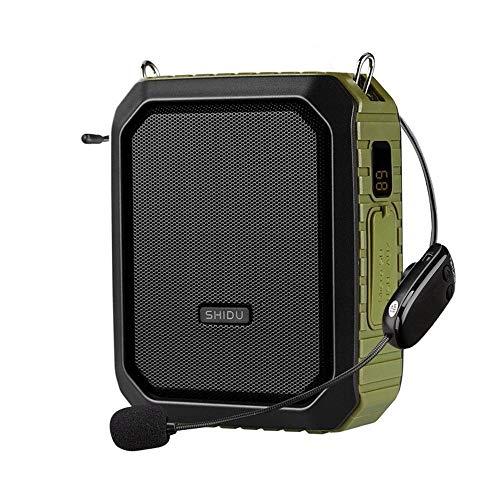 Amplificador de Voz portatil (W) con un microfono para guías Maestros Profesores Artistas animadores promotores de Ventas,etc (Color : Green)