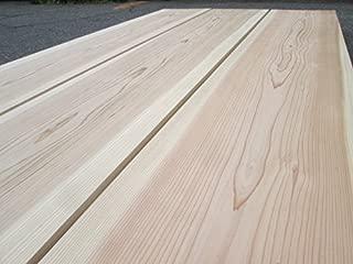 建築材、DIYに最適 【カット無料】国産杉板(日田杉) 無垢、一面無節材(上下二面のうち) 長さ1.97m 厚み1.2cm 幅30cm