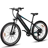 Macwheel 500W Electric Bike 27.5'' Adults Electric Mountain Bike, with Removable 480Wh 48V/10Ah Lithium Battery, Shimano 7-Speed, Suspension Fork with Lock, Tektro Dual Disc Brakes