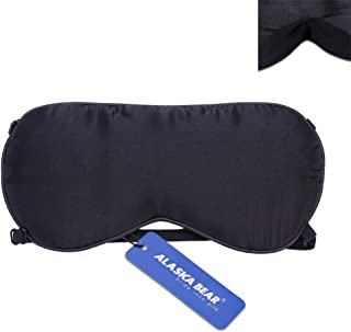 ALASKA BEAR® Natural Silk Sleep mask & Blindfold, Super-Smooth Eye mask (2 Straps(w/Nose Baffle))