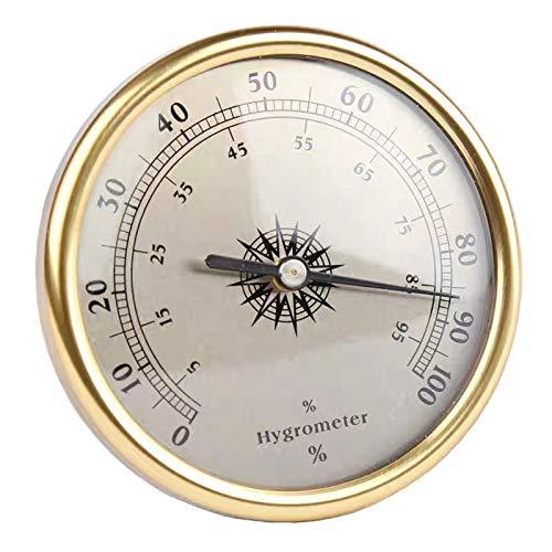 Mr.BoFly 75mm Round Cigar Hygrometer Cigar Humidor Hygrometer Golden