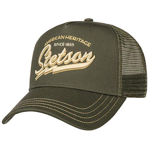 Stetson Gorra Trucker Since 1865 Hombre - Snapback de Beisbol Camionero Snapback,...