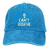 Lsjuee 10674380_0i Cant Breathe F Gorras de béisbol Ajustables Sombreros de Mezclilla Sombrero de Va...