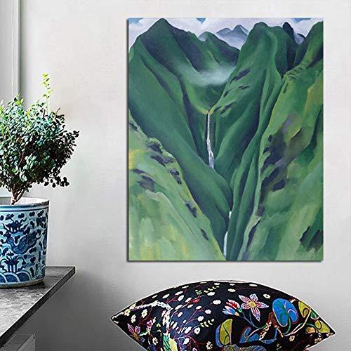 KWzEQ Georgia Canyon Wandkunst Leinwand Poster und Druckgrafik Dekoration, Wohnzimmer Home Decoration,Rahmenlose Malerei,60x75cm