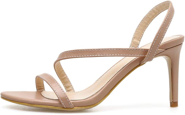 Women's Sandals - Joker Slim and Simple with Roman Heels
