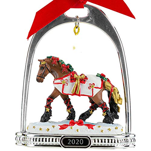 Breyer Horses 2020 Holiday Collection   Stirrup Ornament - Yuletide Greetings   Model #700321