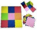 Alfombra infantil puzzle bebe suelo goma espuma eva, proteccion del suelo de habitacion niños y niñas 9 piezas de 30x30x1cm