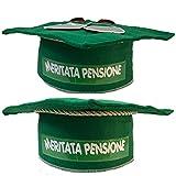 Mr. Gadgets Pensione Tocco in Feltro Verde con Scritta meritata Pensione per Festa Pensione