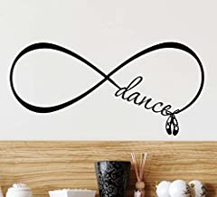 Wall Decal #2 Dance Love Forever Infinity Symbol. cute Ballet Vinyl Wall quote saying inspirational lettering motivational art sticker wall decor