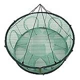 Cutogain Automatique Filet de pêche Piège Cage Forme Ronde Durable Ouvertes pour Crab Écrevisse Homard, 50 cm