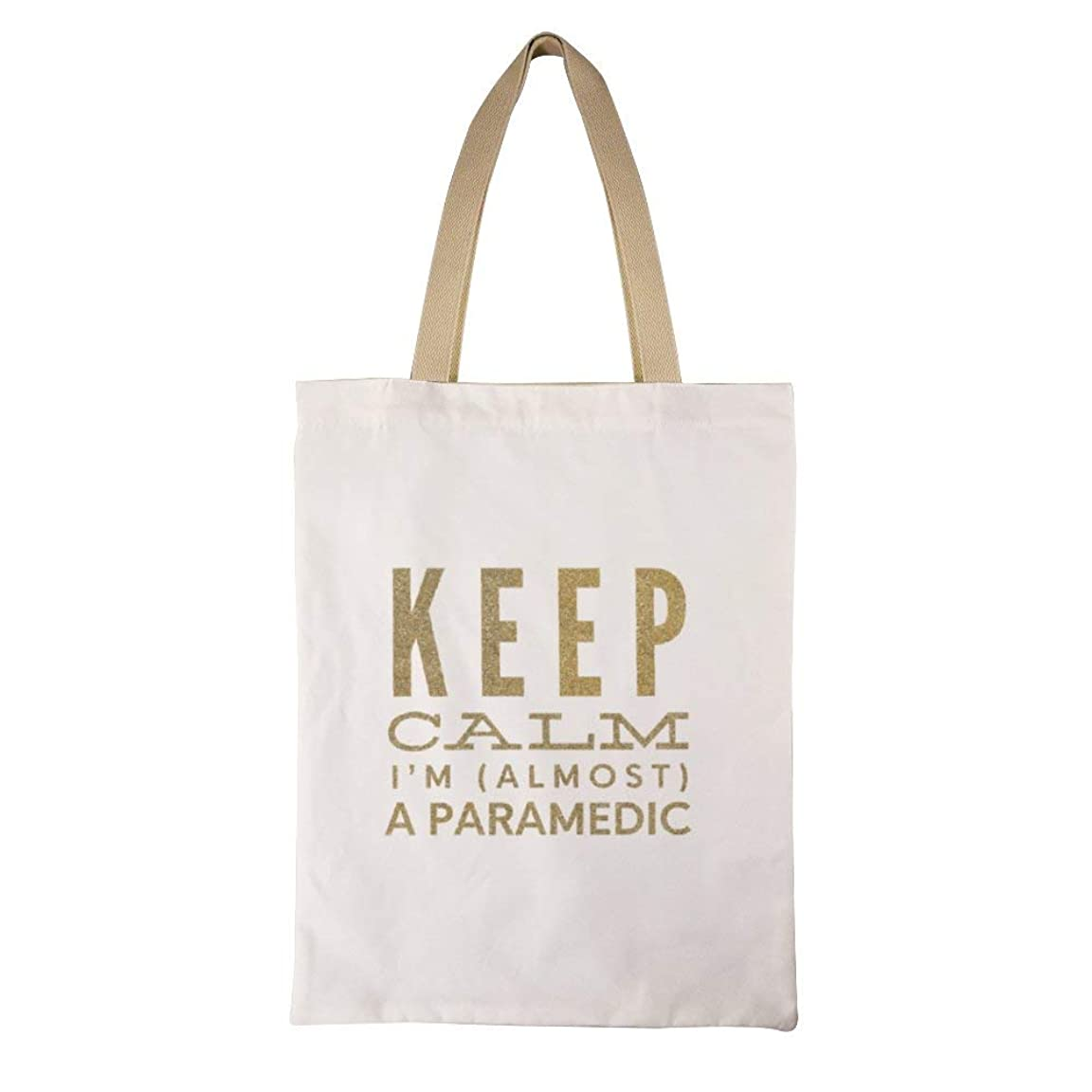 安定したふくろう明快Keep Calm Im Almost A Paramedic レディース キャンバストートバッグ ハンドバッグキャンバスショルダーバッグ通勤通学 大容量 軽量