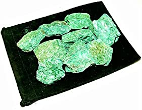 Zentron Crystal Collection: 1 Pound Natural Rough Fuchsite Stones Large Natural Rough Bulk Raw Stones for Tumbling, Wire Wrapping, Polishing, Wicca and Reiki