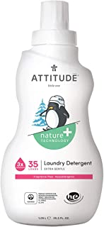 ATTITUDE Baby Laundry Detergent, Natural for Baby, Newborn or Infant, Hypoallergenic, Fragrance-Free, 35.5 Fluid Ounce, 35...