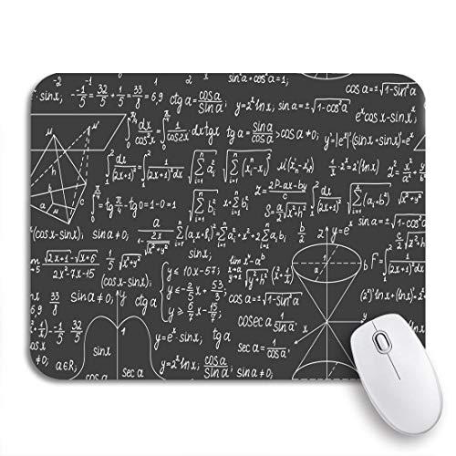 Gaming Mouse Pad Colorido Matemáticas Fórmulas y cálculos matemáticos Matemáticas Pizarra Problema Antideslizante Respaldo de Goma Mousepad para Cuadernos Computadoras Alfombrillas de ratón