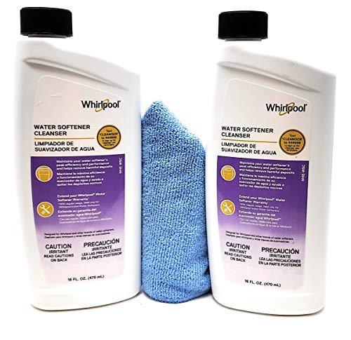 Tesadorz Microfiber Towel and Whirlpool Water Softener Cleanser Formula 16oz, Pack of 2