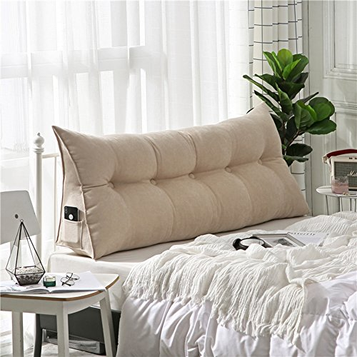 Polstermöbel Dreieckiger keil kissen, -sofa-bett kissen Sitzkissen Bettruhe Lesen kopfkissen Rückenlehne positionierung support pillow,Lumbale pad für büro-bett-sofa-Beige 20x50x100cm(8x20x39inch)