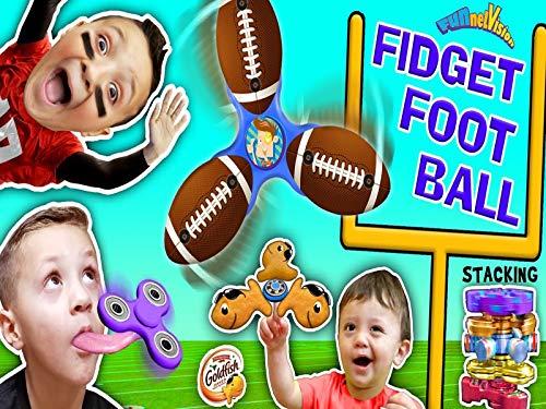 Fidget Spinner Football Game, Tricks, Fidget Beyblades, Spinning Times, Goldfish And FUNnel Vision.