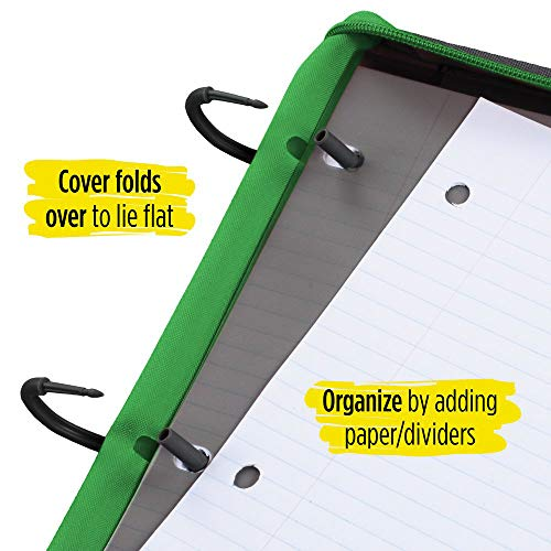 Five Star Flex Hybrid NoteBinder, 1 Inch Ring Binder, Notebook and Binder All-in-One, Electric Green (73416) Photo #5
