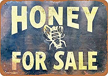 Llpakr Bathroom Signs Funny Sign Farm Sign bee Sign Beer Sign Wall Decor Sign plaques Metal Sign - Vintage Look Honey for Sale 8 ×12  Signs