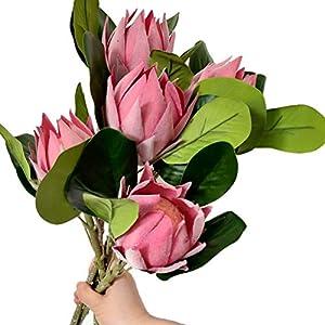 Fake Protea Cynaroides 19″ Silk Protea Cynaroides Flower Four Colors for Home Decorative Wedding Centerpieces