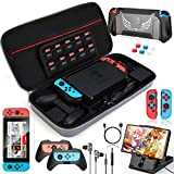 HEYSTOP Funda para Nintendo Switch, 16 in 1 Accesorios Nintendo Switch con Carcasa de TPU+Joy-Con...