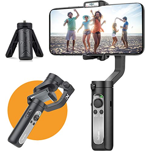 3-Axis Gimbal Stabilizer for Smartphone - 0.5 lbs Lightweight Foldbale Gimbal for iPhone 11 Pro Max/11/Xs Max/XS/XR/X, w/Auto Inception Dolly Zoom, Pocket Gimbal for Video Vlog Youtuber Hohem iSteady