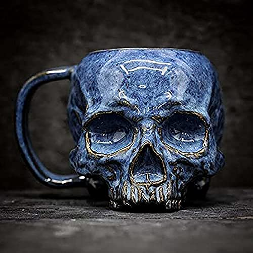 KSSPNL Horror Lover Skull Cup - Taza De Calavera Realista Espeluznante, Tazas De Café Macabras/Taza, Taza Hecha A Mano, Decoración del Hogar De Halloween, Regalo De Cumpleaños Y Vacaciones para Café