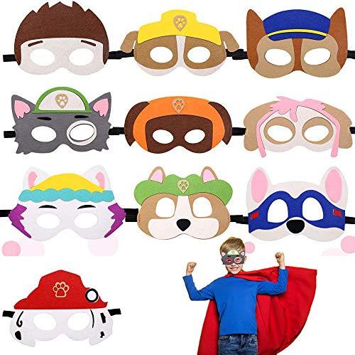 Paw Dog Patrol Toys,Animali per Bambini Feltro Mascherine,Mascherine Feltro,Puppy maschera,Cosplay Maschere,Maschere da festa,Maschera per Bambini per Cosplay Compleanno Natale Halloween