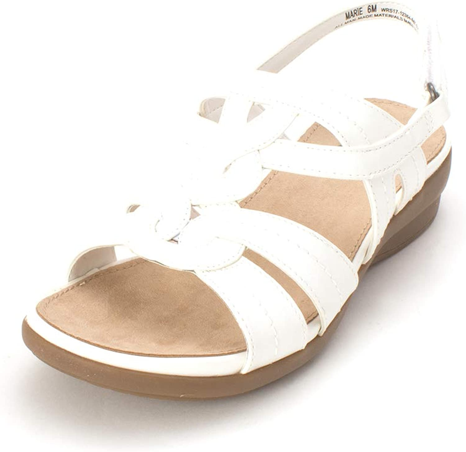 Yuu Womens Marie Open Toe Casual Ankle Strap Sandals