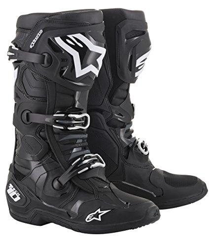 Alpinestars Unisex-Erwachsene Tech 10 Stiefel, Schwarz, Größe 09 (Mehrfarbig, 1