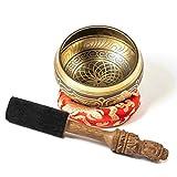 TARORO Cuenco Tibetano sin caja; Ø13cm; hecho a mano en Nepal ~ Diseño antiguo...