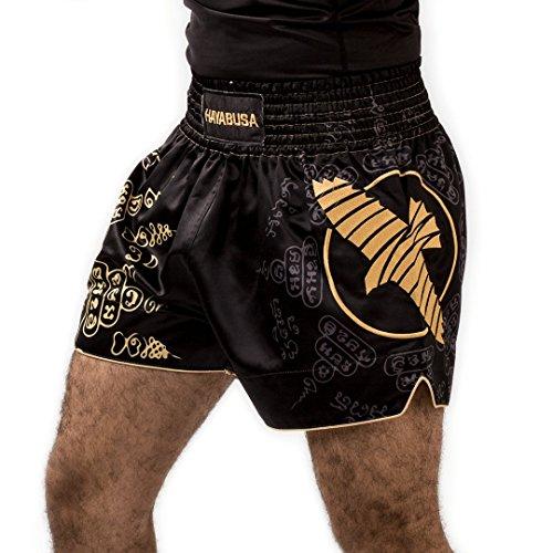 Hayabusa Muay Thai Shorts, Falcon, schwarz Größe XL
