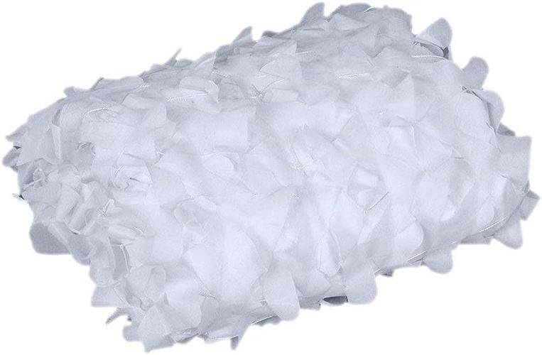 BEAUTY-Filet de camouflage Filet pour Camouflage Blanc Tissu Oxford Tente pour Parasol Camping Militaire Aveugle Observant Cacher Fête Décorations (Couleur   blanc, Taille   5x8m)