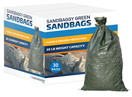 Lasts 1-2 Yrs Tent Sandbags Sand Bag Sandbags for Flooding Monofilament 11 x 48 Long-Lasting Sandbags Pack of 50 Flood Water Barrier Store Bags Sandbaggy Water Curb
