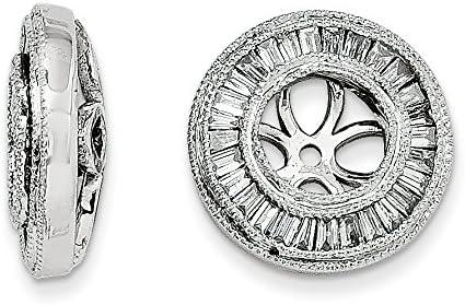 14k White Gold Diamond Jacket Earrings