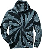 Joe's USA Hoodies Tie-Dye Hooded Sweatshirt,2X-Large Black Tie-Dye