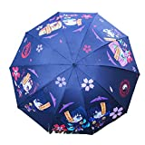折りたたみ 日傘 遮光率100% UVカット率99.9% UPF50+ 紫外線対策 遮熱効果 晴雨兼用 8本骨 抗強風 持ち運び便利 ミニ型可愛い (鬼滅の刃 折りたたみ 2)