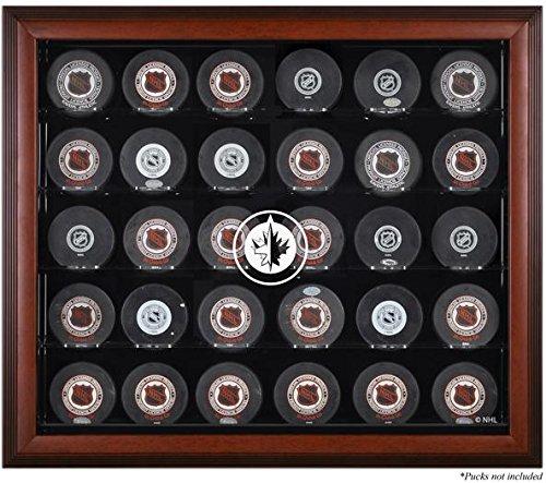 Winnipeg Jets Framed 30 Hockey Puck Logo Display Case