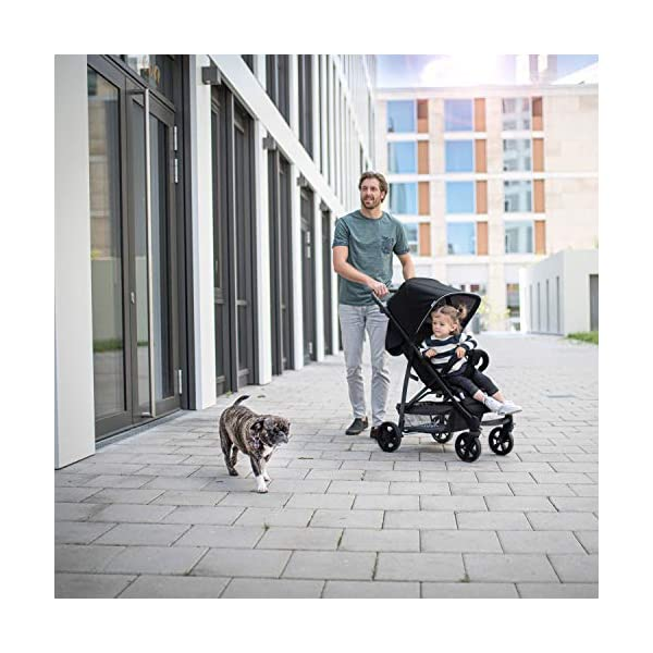 Hauck Rapid 4, 0 Months to 22 kg, Foldable, Compact, with one Hand, with Sleep Position, Height Adjustable Handle, Large Basket - denim/grey, Rapid 4, Up to 25 Kg Hauck Easy folding this pushchair is as easy to fold away as possible - the comfort stroller can be folded with one hand only within seconds, leaving one hand always free for your little ray of sunshine Long use this buggy can be used for a very long time. it is suitable from birth (also compatible with 2in1 carrycot or comfort fix infant car seat) up to a maximum of 22kg Comfortable back friendly push handle adjustable in height, the hood extendable; suspension, swivelling front wheels, soft padding, and large shopping basket 10