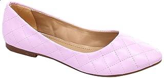 حذاء باليرينا مسطح جلد مبطن للنساء من جرينتا