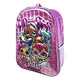 Sac à dos fille rose avec poupées LOL en 3D, sacs à dos d'école, sac pour enfant garderie, accessoires scolaires LOL, cadeaux pour filles